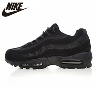 NIKE AIR MAX 95 ESSENTIAL Men's Running Shoes,Original Sports Outdoor Sneakers Shoes, Black, Non slip Wear resistant 609048 092