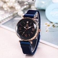 купить Fashion Luxury Women Crystal Watch Waterproof Rose Gold Steel Mesh Quartz Women Watches Top Brand Clock Relogio Feminino по цене 325.36 рублей