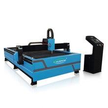 Chapa metálica de aço inoxidável gravura chama corte cnc 1530 mesa plasma máquina cortador plasma