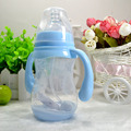 240 ml 320 ml Garrafa de Leite Do Bebê Infantil Alça PP Garrafa De Água Criança Garrafa Rosa Azul presente de natal