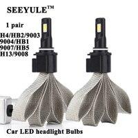 1 Pair SEEYULE Universal 6000K 8000LM Car Headlights Headlamp LED Light Bulbs H4 HB2 9003 9004