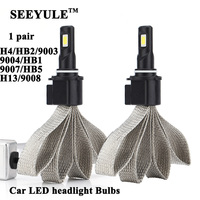 1 Pair SEEYULE Universal 6000K 8000LM Car Headlights Headlamp LED Light Bulbs H4 HB2 9003 9004