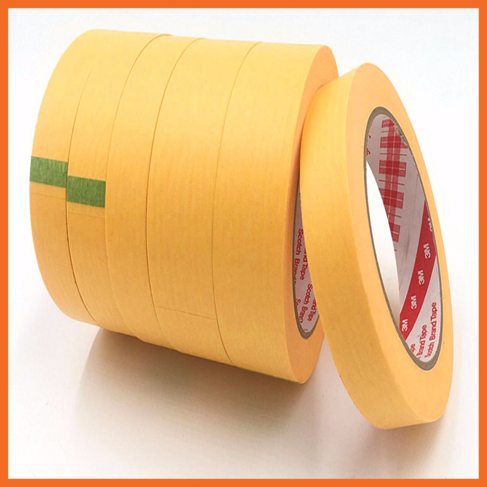 High Temperature Resistant Adhesive Masking Tape for Hold Bundle Seal and Paint masking 50mmx164ft 3M244 heat resistant high temperature masking adhesive tape 19mm 50m 290 c