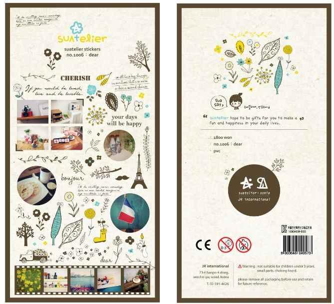 Kleurrijke Creatieve Diverse Ontwerpen Decoratieve Stickers voor Telefoon Dagboek Sticker Plakboek Decoratie Sonia PVC Briefpapier Stickers