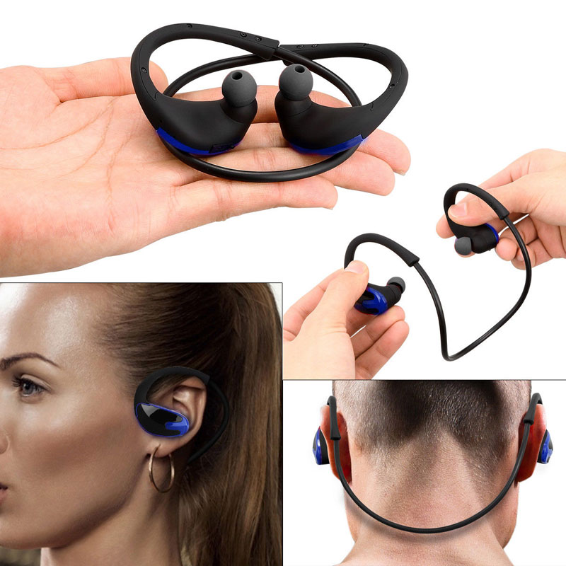 Sport Headset Sport Headphones for Running Earphones Bluetooth Wireless Earbuds Silicone Headphones with Microphone MP3 Player