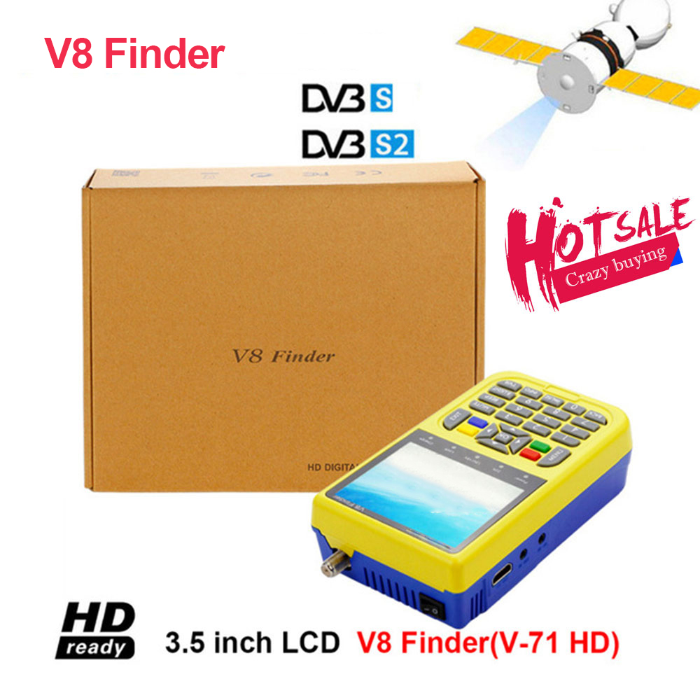 V8 finder digital finder 3.5 inch LCD digital satFinder DVB-S2 MPEG-4 v8 satellite Finder PK satlink ws-6933 original dvb t satlink ws 6990 terrestrial finder 1 route dvb t modulator av hdmi ws 6990 satlink 6990 digital meter finder