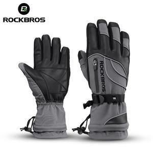 ROCKBROS Ski-Gloves Snowmobile Fleece Motorcycle Winter Waterproof Women Male