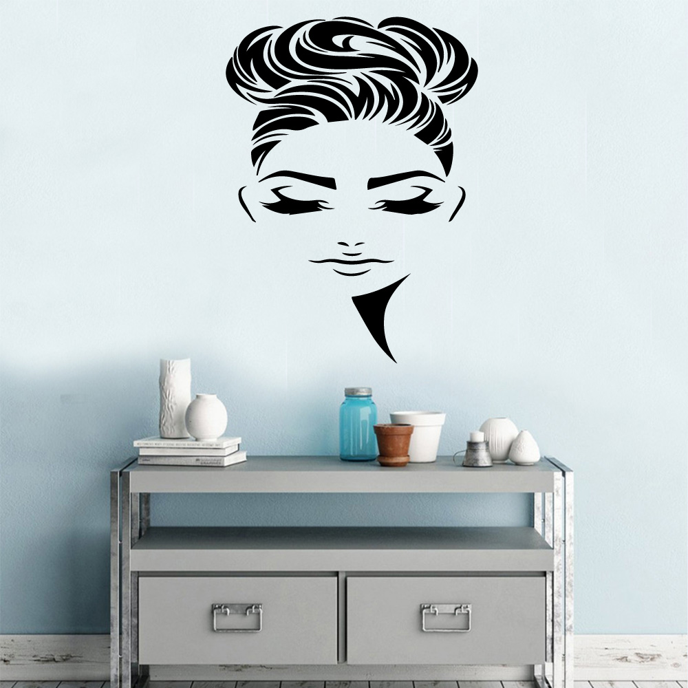 beauty girl parlor Vinyl Decals Wall Sticker Home Decoration Accessories For Living Room Removable Wallstickers