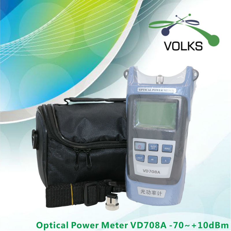 Fiber Optical Power Meter VD708A -70~+10dBm With Bag Free Shipping