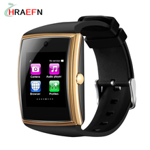 Hraefn Reloj inteligente LG518 Bluetooth Smart Watch support Sim TF NFC relogio Smartwatch for iOS phone iphone Android PK gt88
