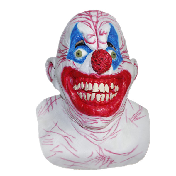 X-MERRY Latex Clown Mask Halloween Scary Costume Chingle Clown Halloween Mask