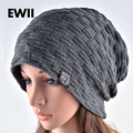Brand Male Female Autumn And Winter Hats Worn Bonnet  Thick Warm Cap Knitted Caps Men And Women Outdoor Ski Beanie Hat Hedging