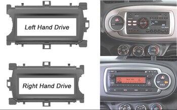 One Din Stereo Panel Für Toyota Yaris 2011 + Fascia Radio DVD Dash Installation Mount Trim Kit Gesicht Plate Frame lünette