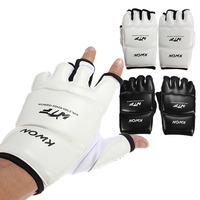 Half Fingers Kids Adults Sandbag Training Boxing Gloves Sanda Karate Muay Thai Taekwondo Protector