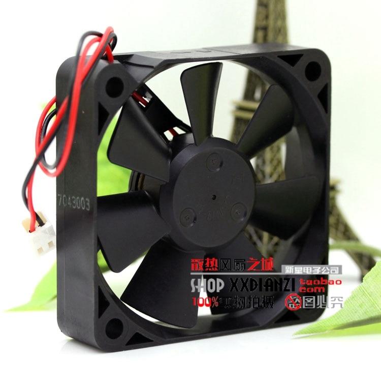 Brand NMB 2406KL-05W-B50 6015 24V 6CM 0.13A small motor inverter cooling fan