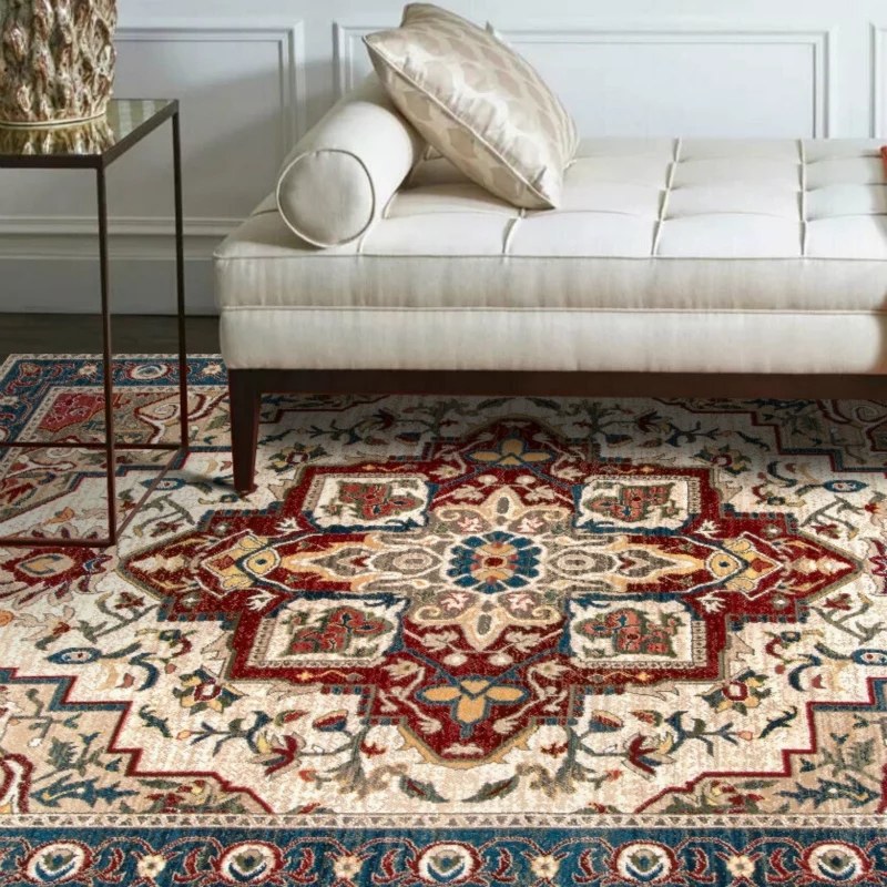 Vintage Home Rug: Retro Style American Style Living Room Rug, Big Size
