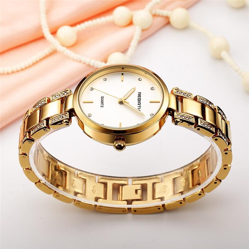 REBIRTH Staal Band Dames Horloges Casual Dames Horloges Topmerk Luxe - Dameshorloges - Foto 4