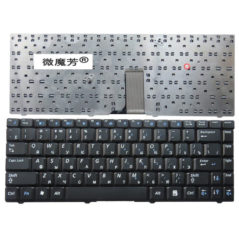 RU For Samsung R519 NP-R519 Laptop Keyboard Russian New Black new laptop keyboard for dns 0155814 0155827 ru russian black as photo