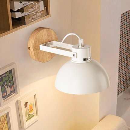 Креативное деревянное железное настенное бра Лофт современный светодиодный настенный светильник светильники для спальни настенный светильник домашний декор освещение в помещении светильник