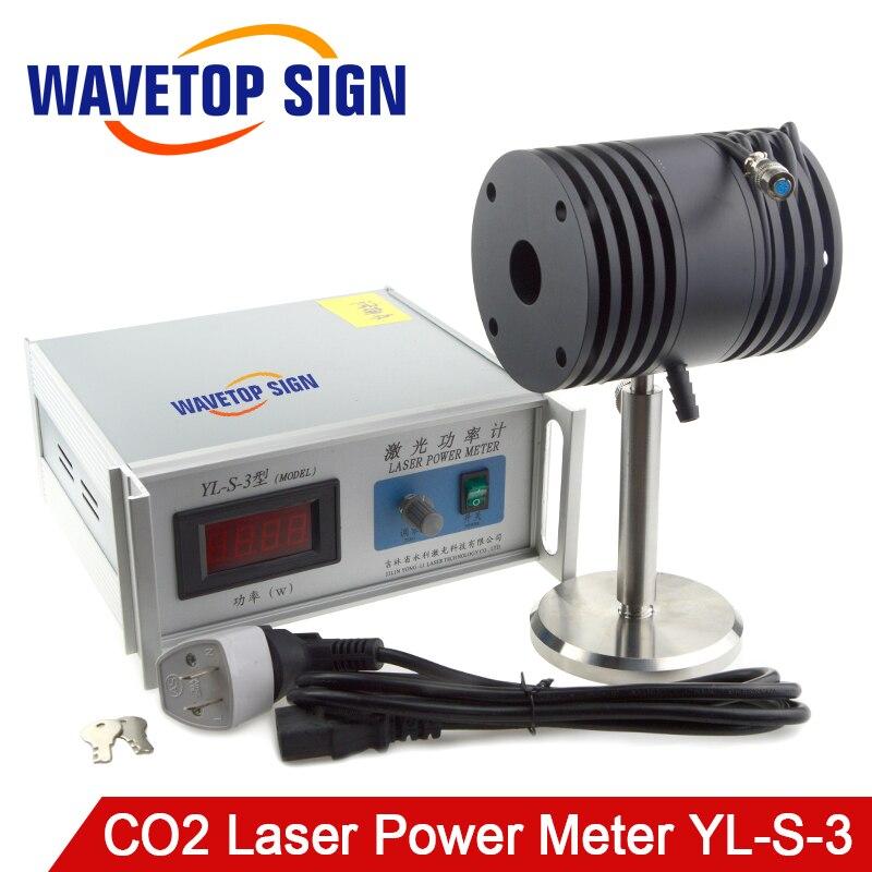 Desktop laser power meter co2 laser power meter use wavelength 10.6um test range 0-200W input volage ac 220v mdle YL-S-3 laser fce teacher s book