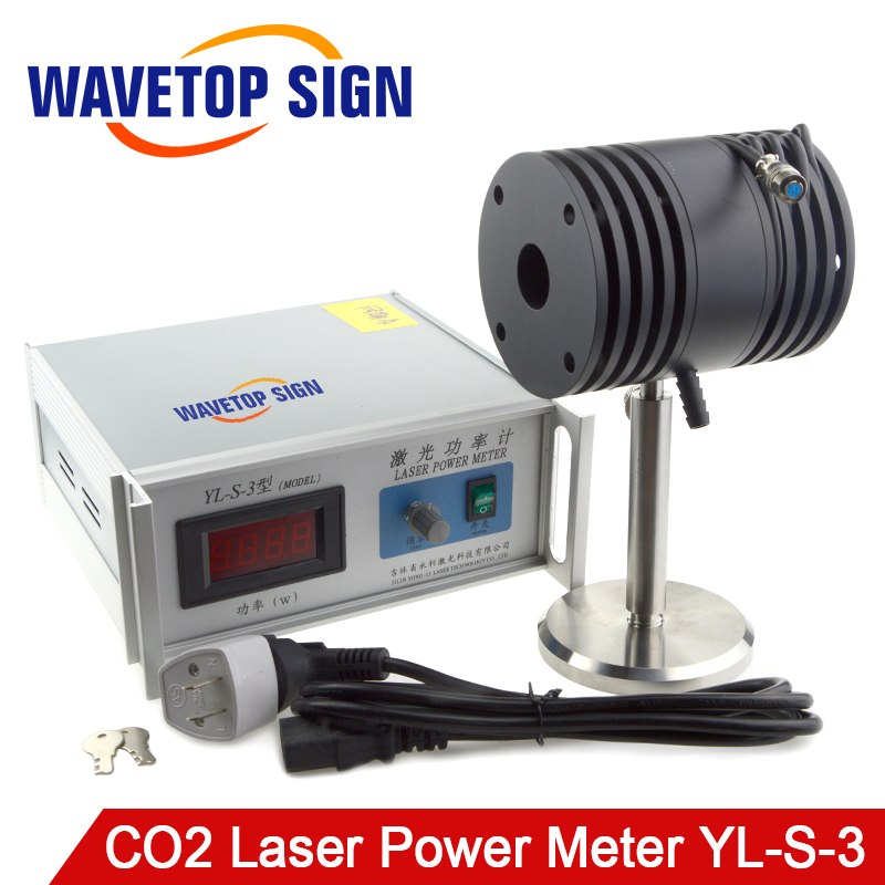 WaveTopSign Desktop CO2 Laser Power Meter Test Range 0-200W Use Wavelength 10.6um Input Voltage AC 220V Modle YL-S-3