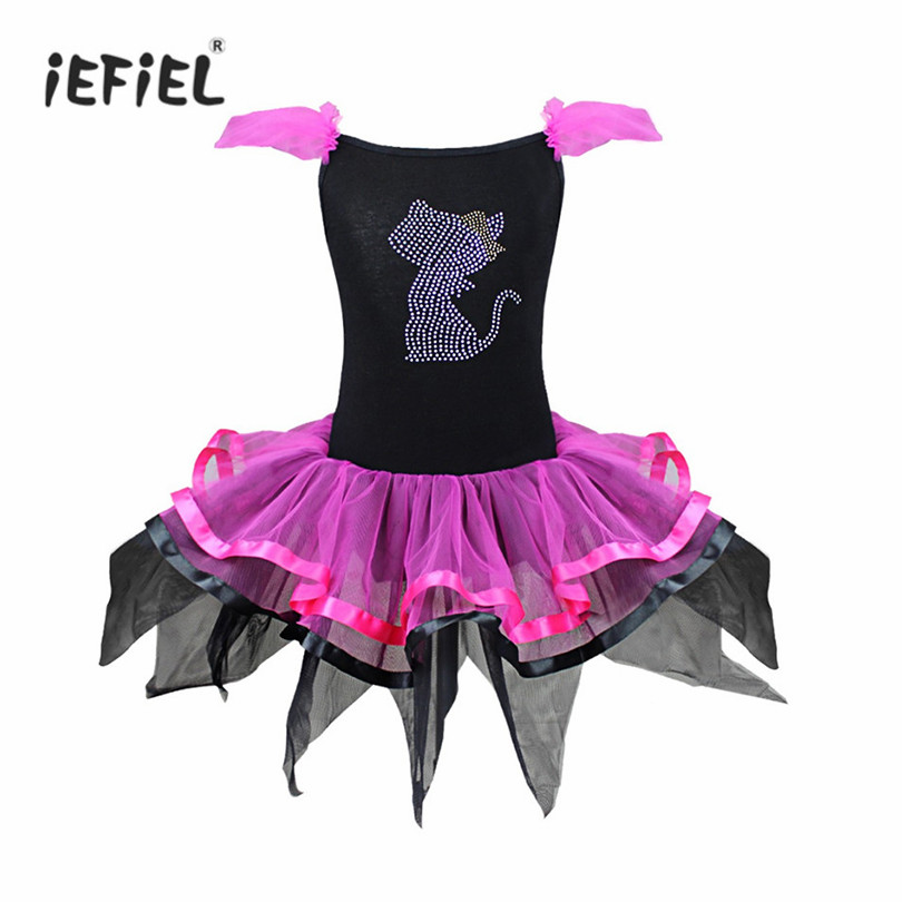 9f2ddb5330 Detail Feedback Questions about iEFiEL Kids Baby Girls Stage Performance  Dancewear Beading Cat Tutu Dress with Ear Headband Carnival Party Fancy  Ballet ...
