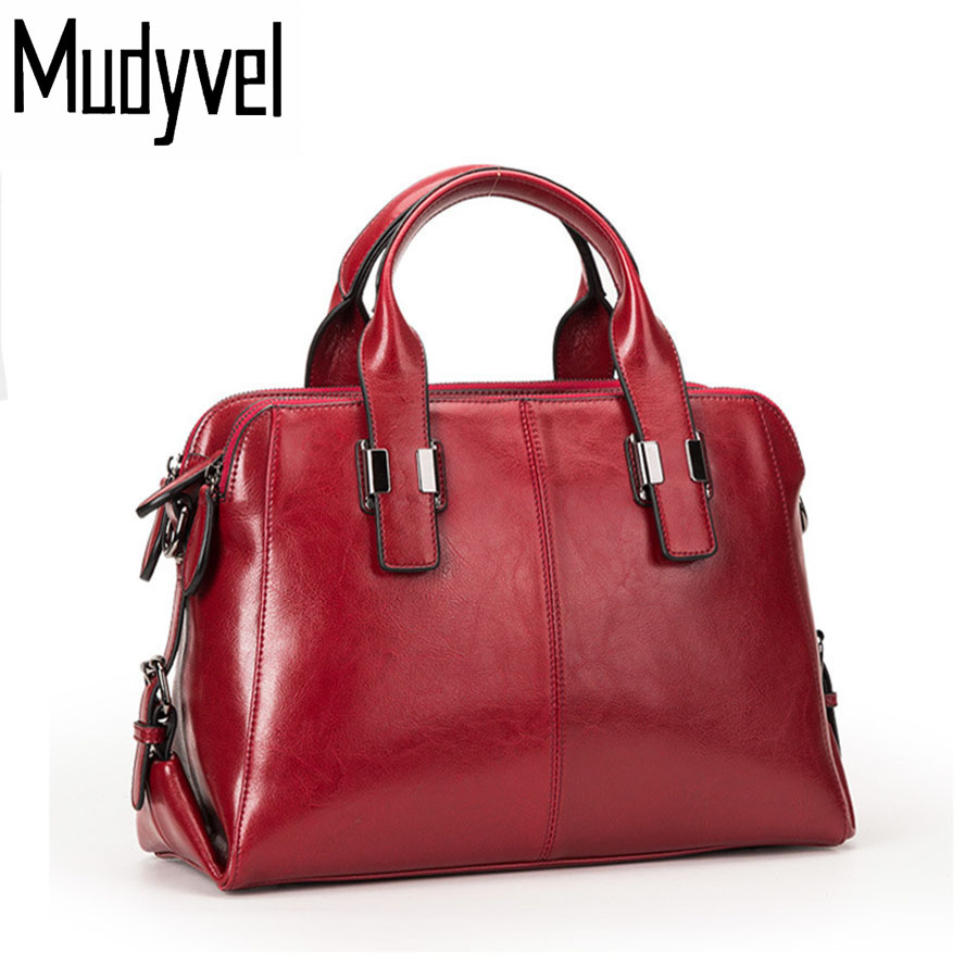 New Women leather Handbags genuine leather luxury handbags women bags designer shoulder bags fashion women messenger bags 2017 autumn and winter new women genuine leather handbags female bags oil wax cowhide handbags fashion shoulder messenger bags