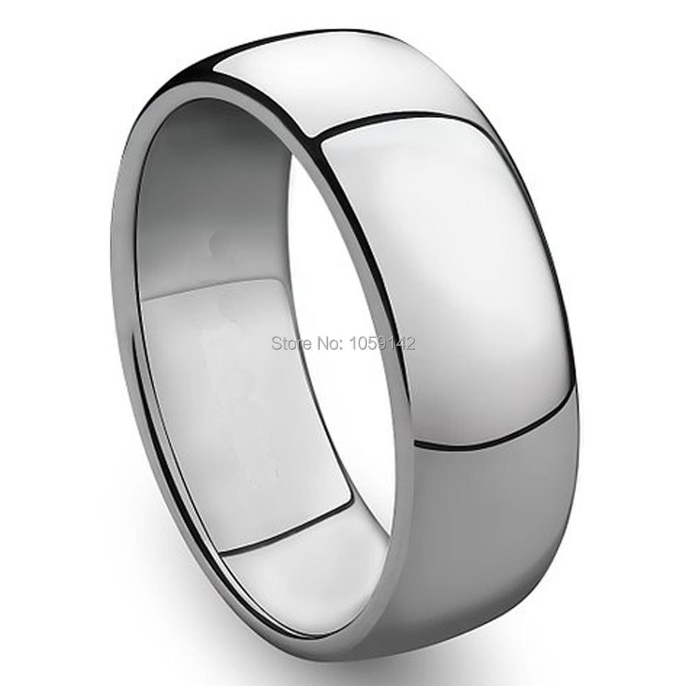 Wedding Band Stainless Steel 8mm: 3mm To 8mm 316L Stainless Steel Shiny Polished Ring