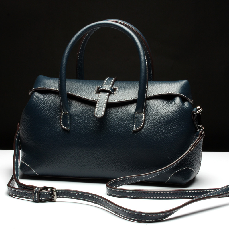 Newest High Quality Ladies Bags Handbags Women Famous Brands 2019 Genuine Leather Totes Shoulder Bags Blue