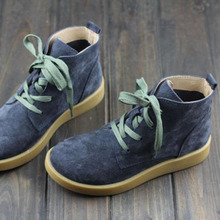Shoes Woman Ankle Boots Nucbuck Leather Casual lace up Autumn Boots Female Cowboy Booties (h189-3)