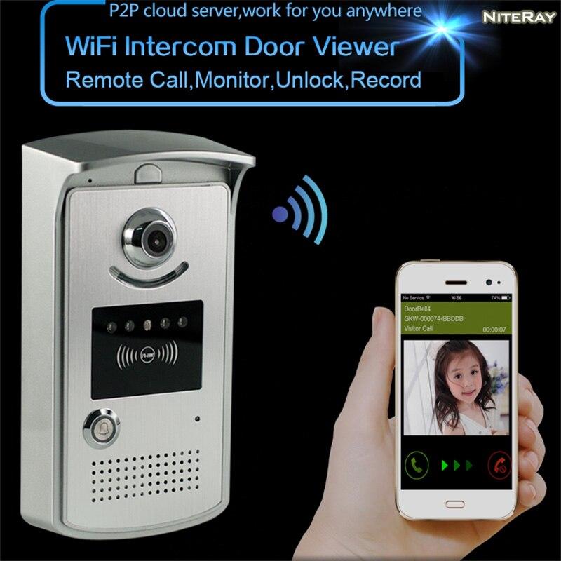WiFi vidéo numérique sonnette intelligente controlssample trou caméra IP porte interphone système porte à distance appel sans fil de bell porte téléphone