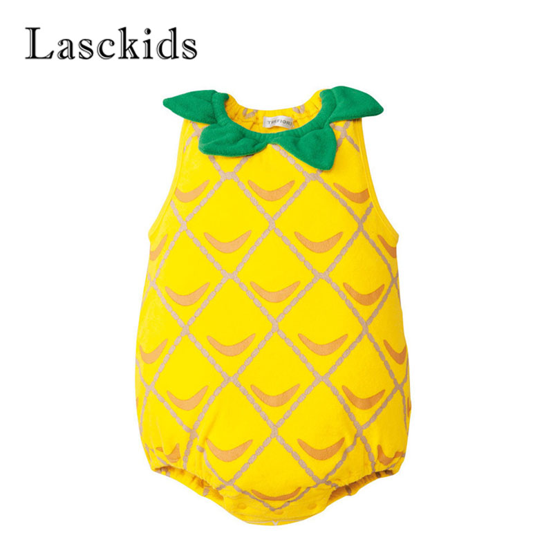 Lasckids Summer Thin Bebe Baby Bodysuits Cotton Sleeveless Cute Bebes Clothes Baby Boy Girl Bodysuit Jumpsuit for 6M/9M/12M Baby