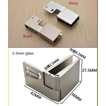 1 para (1 dół + 1top) Lot Pivot szafka do wina szafka wyświetlacz wizytówką bezramowe szklane drzwi zawias tanie i dobre opinie Zawiasy Ze stopu aluminium ze stopu aluminium