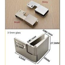 1 par (1 parte inferior + 1 parte superior)/lote de bisagra de puerta de vidrio sin marco para armario de vino
