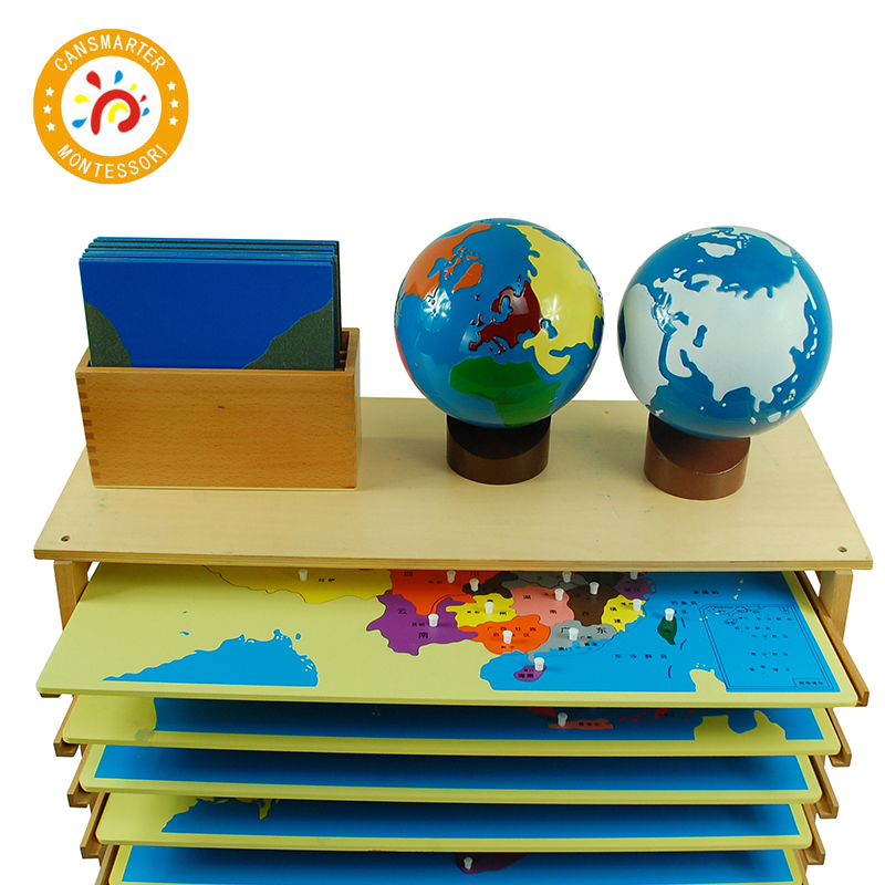 Comprendre le monde monde bébé jouet Montessori matériel connaître chaque Continent éducation précoce Globe enfants jouet
