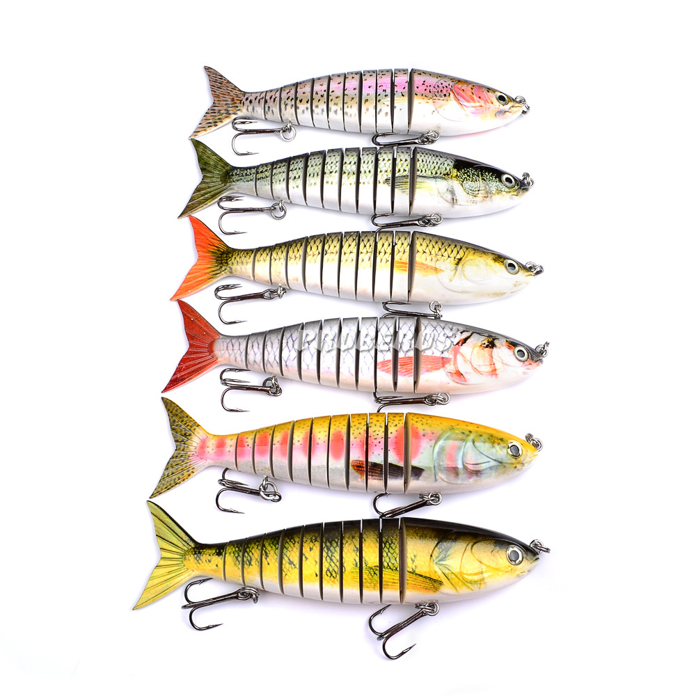 9.45/24cm 16g Lifelike Fishing Lure Multijointed 11-segement Pike Muskie Lure Swim bait Crankbait Fish Treble Hook Tackle 24 16 g 1119