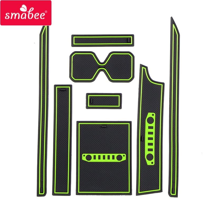 Smabee Gate Slot Pad For Suzuki Jimny 2019 Non-slip Inner Door Mat / Cup Mats White / Green / BLACK