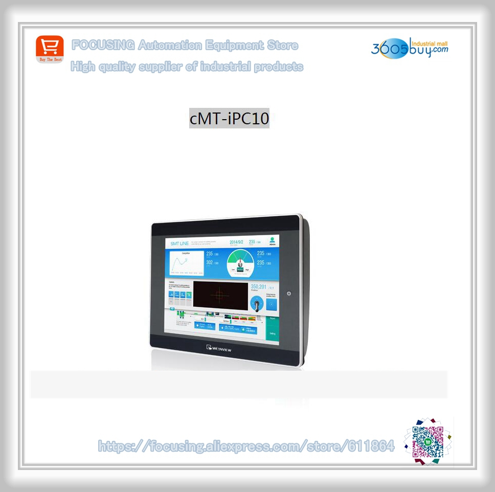 Original new in box for HMI CMT-iPC10 Touch panel pws6710t p hmi touch screen human machine interface new in box is upgraded and replaced