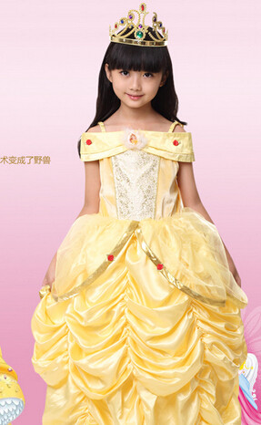 princess belle Halloween Beauty and the Beast Costume kid child Girl 100-140cm gifCostume Suit Fancy Dress Cosplay Costume  sc 1 st  Aliexpress & Online Shop princess belle Halloween Beauty and the Beast Costume ...
