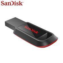 SanDisk USB 2.0 Flash Drive 128GB Pen Drive 64GB Black Memory Stick 16GB Pendrive 32GB USB Pendrive For Computer Tablet genuine original sandisk ultra usb3 1 z800 usb flash drive 128gb 64gb pendrive 32gb 16gb pen drive support official verification