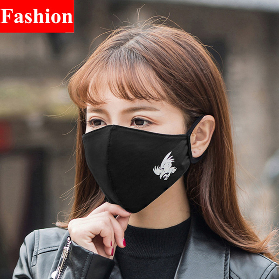 Pattern Protective Women Anti-dust Black Individuality Men Eagle amp; Fashion Fog Cotton Mask Dust Pm2 2pcs Effect Luminous 5