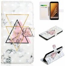 For Samsung Galaxy A3 A5 2017 A6 A7 A8 2018 Plus Fashion Style Colorful Marble Wallet Leather Case Flip Stand Mobile Phone Bag mooncase cross pattern flip pouch leather wallet slim stand чехол для samsung galaxy a3 hot pink