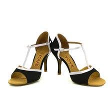 YOVE Dance Shoe Satin Women's Latin/ Salsa Dance Shoes 3.5″ Slim High Heel More Color w1610-1