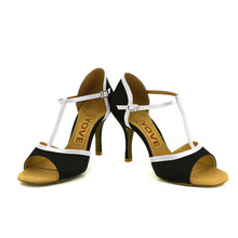 YOVE w1610 1 Dance Shoe Satin Women s Latin Salsa Dance Shoes 3 5 Slim High