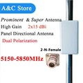 5G wifi antenna mimo panel antenna dual polarization antenna 5150-5850MHz high gain 2x15dBi antenna N-Female free shipping