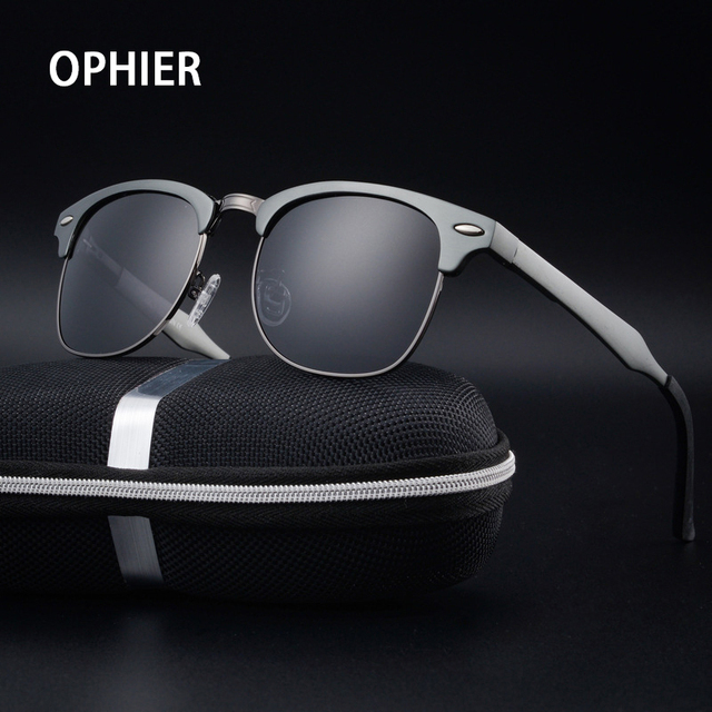 OPHIER Aluminum+TR90 Sunglasses Men Polarized Brand Designer Points Women/Men Vintage Eyewear Sports Driving Sun Glasses Oculos