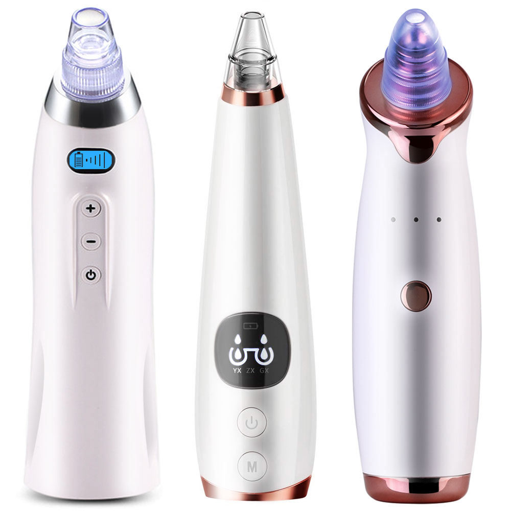 Deep Blackhead Acne Removal Vacuum Dark Black Head Face Skin Cleaner Nose Pimple Care Suction Electric Tool Extractor USB Charge