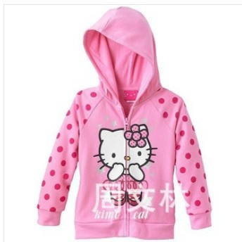 9599f5263 2013 new polka dot sweaters kids pink hello kitty sports wear for girl children's  clothing girl's
