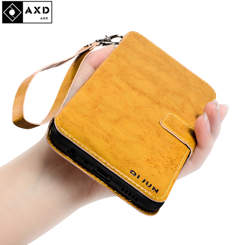 AXD Wallet Case For <font><b>Samsung</b></font> Galaxy A8 2015 <font><b>A8000</b></font> a 8 2016 Retro Leather Flip Stand Cover For <font><b>Samsung</b></font> A8 2018 A8S G8870 Cases image