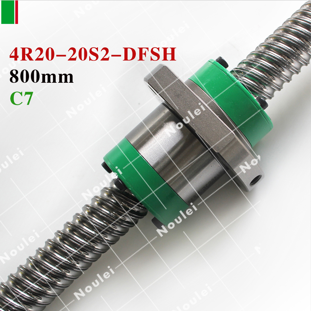 HIWIN DFSH R20-20S2  800mm Ball Screw C7 Rolled and DFSH 2020 Ball Nut for CNC parts